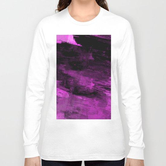 Purple Haze - Abstract, purple and black painting Long Sleeve T-shirt