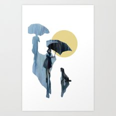 when it pours it rains Art Print