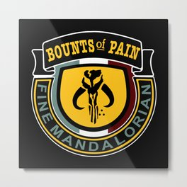 Bounts of Pain Logo Metal Print