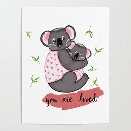 Cute Koalas in jackets Poster