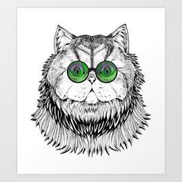 Catty Kitty Chique Art Print