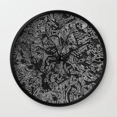 White/Black #3 Wall Clock
