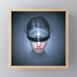 Futuristic Sci-Fi Woman Framed Mini Art Print