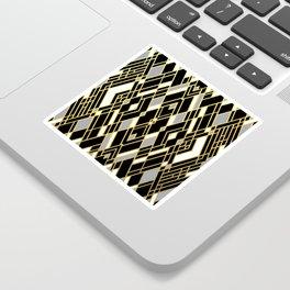 Art Deco Grey Gold Sticker