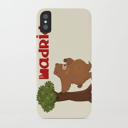 MADRID: Bear and Madrono (v.2) iPhone Case