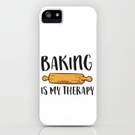 Christmas Cookie Baking Baker Gift Baking Is My Therapy iPhone Case