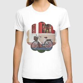 White vintage bike T-shirt