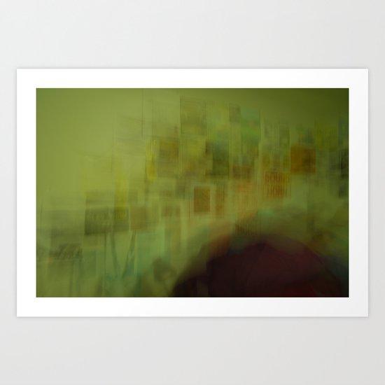 Blurred Boundaries Art Print