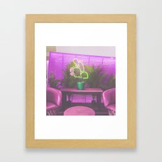cactus light Framed Art Print