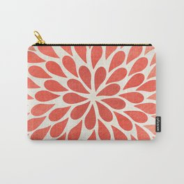 Living Coral Petal Burst Carry-All Pouch