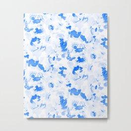 AbstractFlora Lapis Blue Metal Print