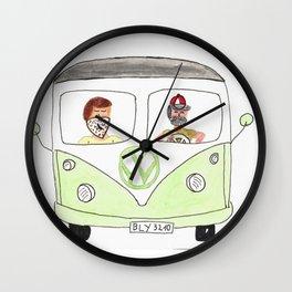 A green ride Wall Clock
