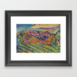 Topa Mountain Winery Framed Art Print