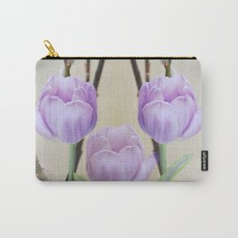 Artistic Pastel Spring Tulips Carry-All Pouch