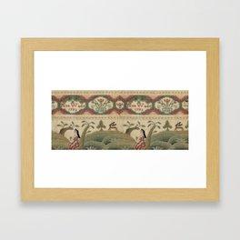 Ann Wade 1772 Needlework Sampler Framed Art Print
