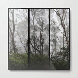 Forest - Triptych Metal Print