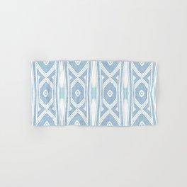 Velvety Tribal Shield Baby Blue Hand & Bath Towel