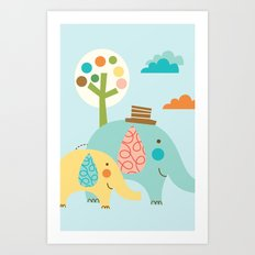 Jungle Ellies Art Print