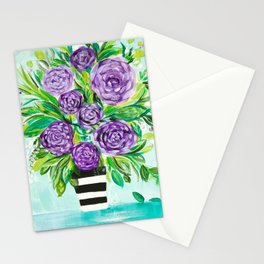 Purple Bouquet Delights Stationery Cards