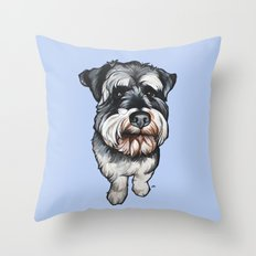 Barney the Miniature Schnauzer Throw Pillow