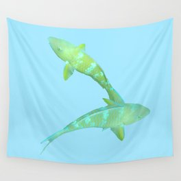 Lime Parrotfish Wall Tapestry