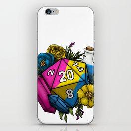 Pride Pansexual D20 Tabletop RPG Gaming Dice iPhone Skin
