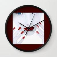milk Wall Clocks featuring Milk by Fabsdolls