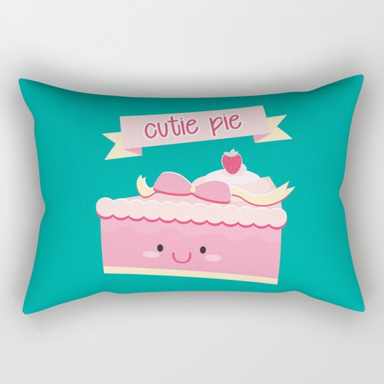 Cute pie Rectangular Pillow