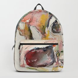 Human Skull Painting Backpack