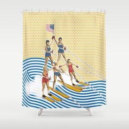 Patriotic Pyramid Shower Curtain