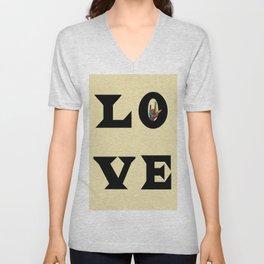 LOVE Typography Unisex V-Neck
