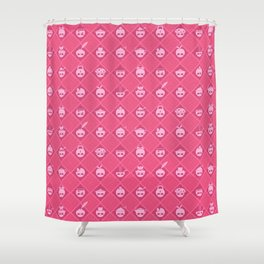 The Nik-Nak Bros. Pinkerton Shower Curtain
