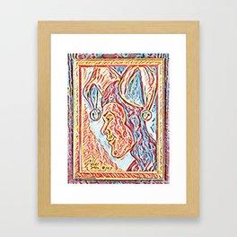 Jester Profile Framed Art Print