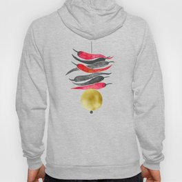 Lemon chilli charm - Black Red and Gold Hoody