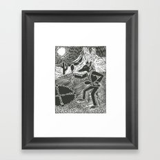 Coyote Dancer  Framed Art Print