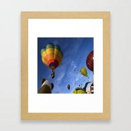 colorul balloons Framed Art Print