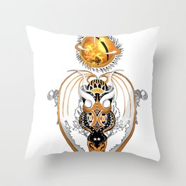 Cosmic Smoking Copperhead Dragon Throw Pillow