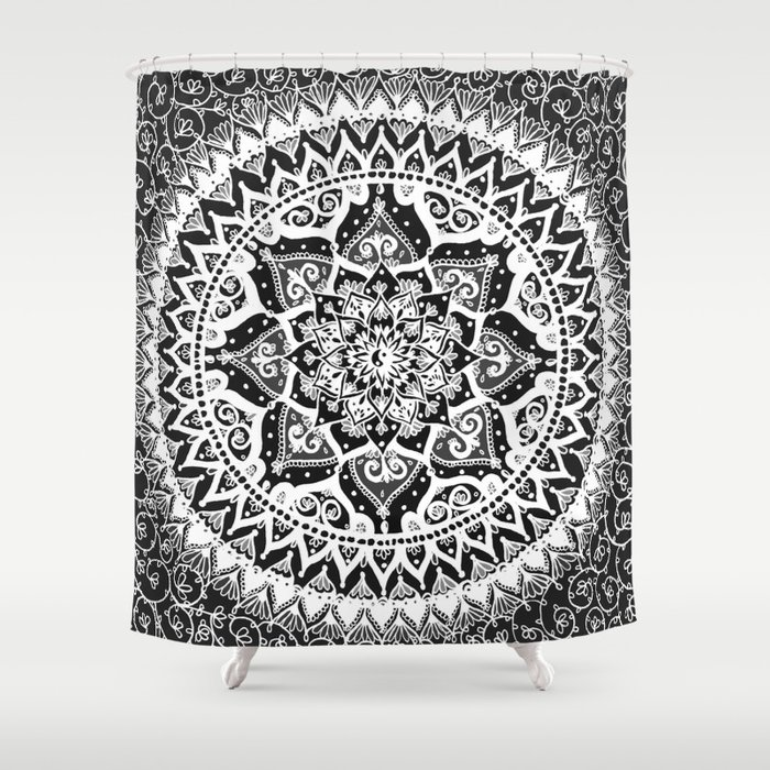 Yin Yang Mandala Pattern Shower Curtain By Laurelmae Society6
