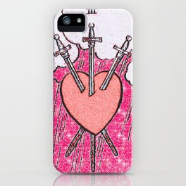 3 of Swords iPhone Case