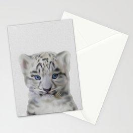 léopard des neiges Stationery Cards
