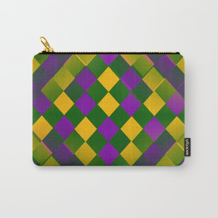 Harlequin Mardi Gras pattern Carry-All Pouch