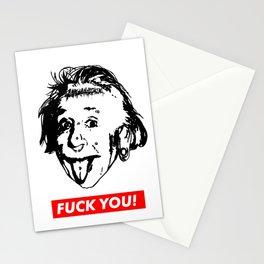 Albert Einstein. Rebel: F**k You! Stationery Cards