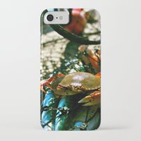 crab iPhone & iPod Cases featuring Crab by Kali Malone