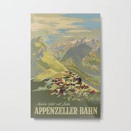 Appenzeller Bahn Vintage Travel Poster Metal Print