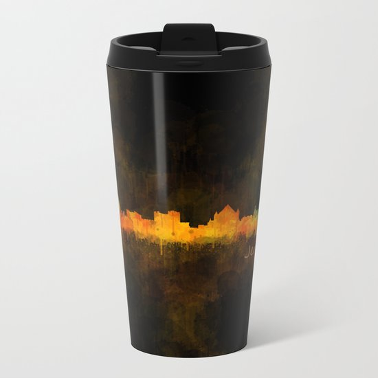 Jerusalem City Skyline Hq v4 Metal Travel Mug
