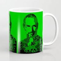 steve jobs Mugs featuring Steve Jobs green by Rebecca Bear
