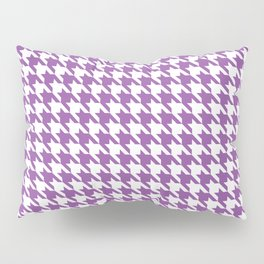 Light Violet Classic houndstooth pattern Pillow Sham