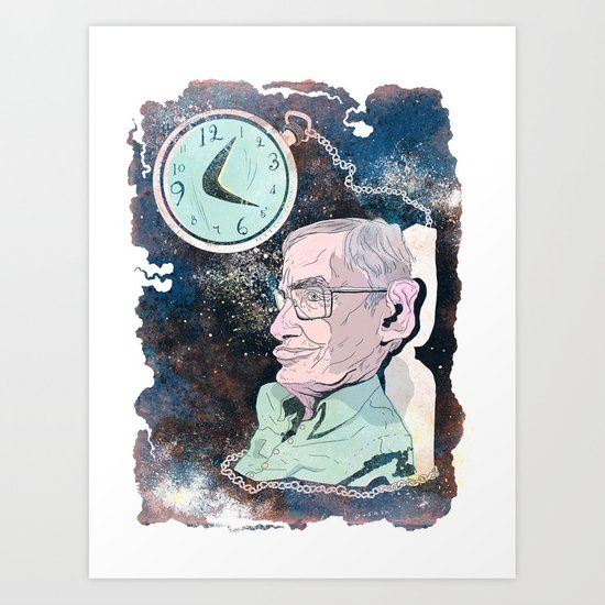 Stephen Hawking Art Print