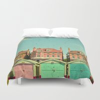 cassia beck Duvet Covers featuring Promenade by Cassia Beck