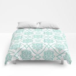 Seafoam Damask Comforters